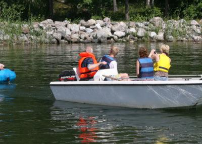 Motorbåt med drag