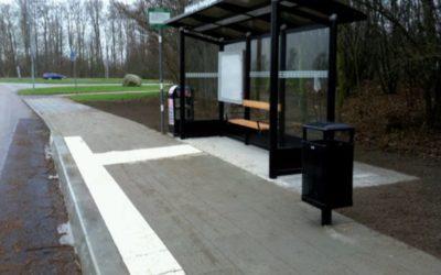 Anpassad busshållplats